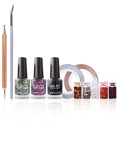 Buy Rio Nail Artist Nail Art Shimmer And Sparkle Kit Online At Low