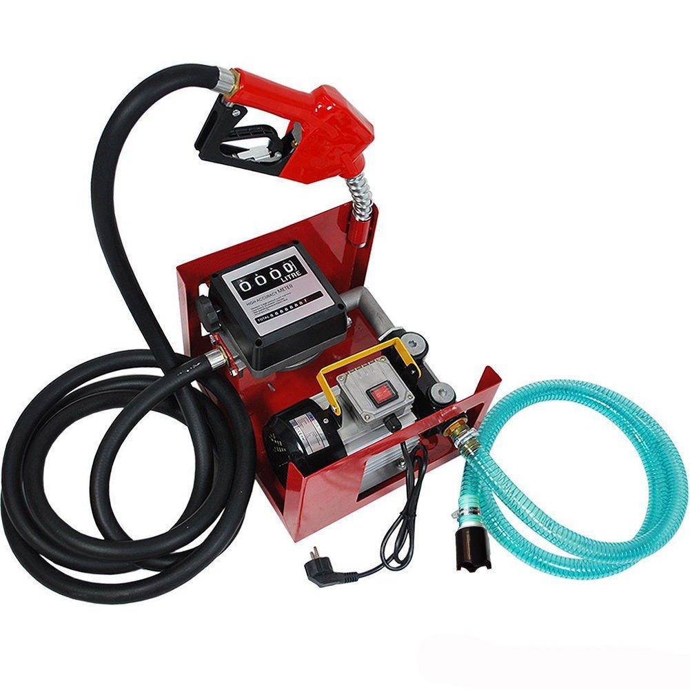 Kit de dispensador de bomba de combustible diésel eléctrico de transferencia de combustible, boquilla de combustible/aceite, bomba de biodiésel, 550 W, ...