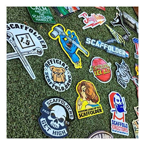 (40+) Scaffolder Hard Hat Stickers Hardhat Sticker & Decals, Scaffold Carpenter by Unknown (Image #1)