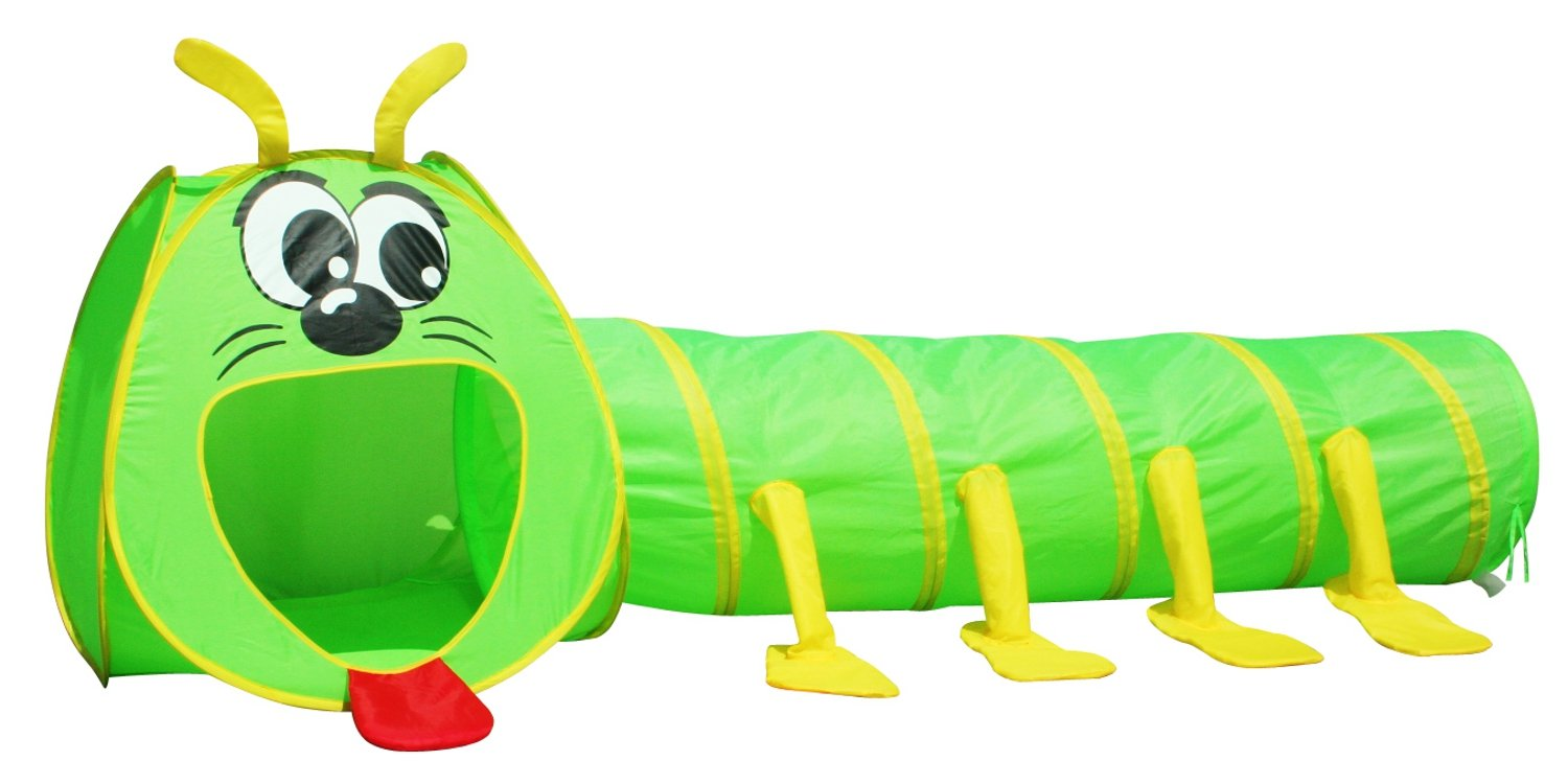 Big Mouth Caterpillar Tent 2pc Pop-up Children Play Tunnel Kids Discovery Station by POCO DIVO