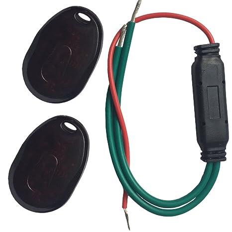 YOUANDMI 12/24V 30A Mini Alarma Sin Cables con Mando - Universal Cerradura Electronica Seguridad