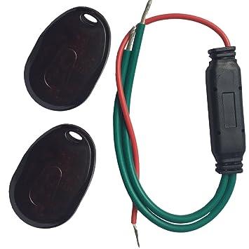 YOUANDMI 12/24V 30A Mini Alarma Sin Cables con Mando ...
