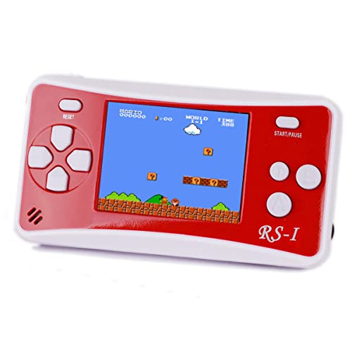 Handheld Game Console, SHANGPIN 2.5'' LCD Classic 8 Bit Retro Portable Video Game with 152 Games Built-in Game Player,Best Birthday Christmas Gifts for Children-RED