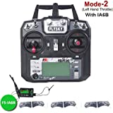 Flysky FS-i6X Transmisor (10CH, 2.4GHz, AFHDS 2A) RC Transmitter con Flysky iA6B Receptor for FPV Racing RC Drone Quadcopter by LITEBEE (Mode-2 Left Hand Throttle)