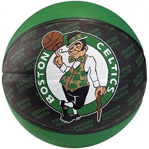 Spalding Boston Celtics Official Logo Rubber Team Basketball Size-7