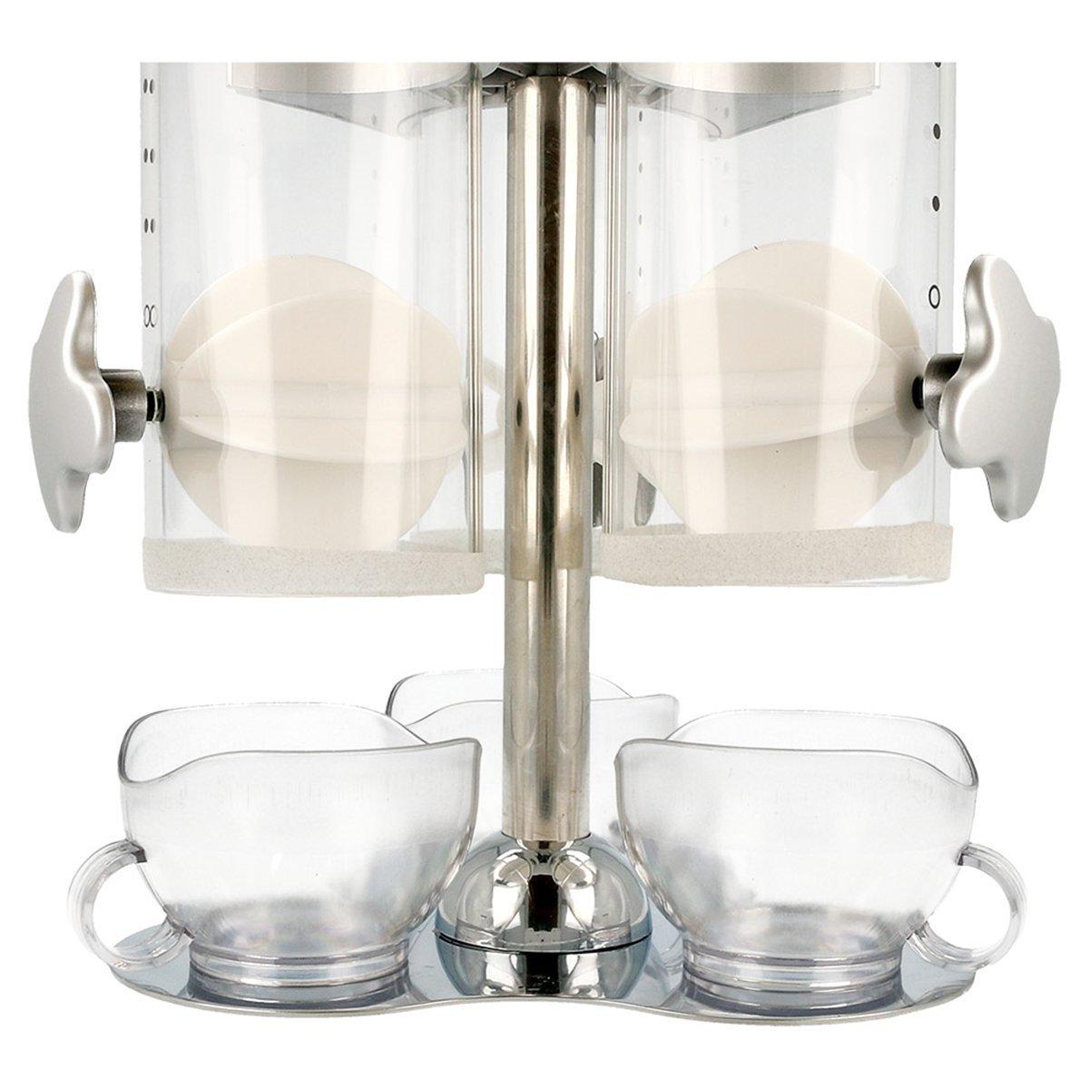 García de Pou 146.73 Dispensador de Cereales Triple, 20 x 20 x 45 cm, Transparente: Amazon.es: Industria, empresas y ciencia