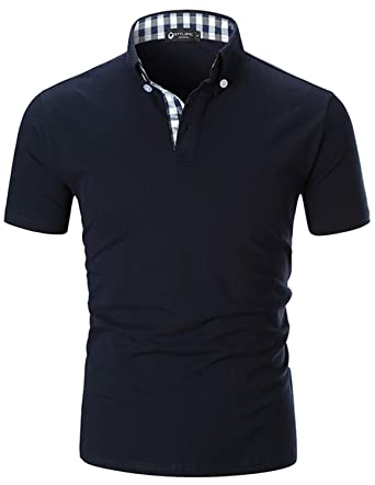 5b9975eb72c STTLZMC Men s Short Sleeve Polo Shirts Casual Fit Golf Solid Color Tops