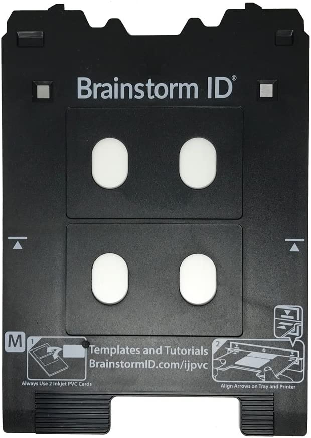 Inkjet PVC Card Tray for Canon PIXMA TS8000 and TS9000 Series Printers (Canon M Tray Printers) by Brainstorm ID