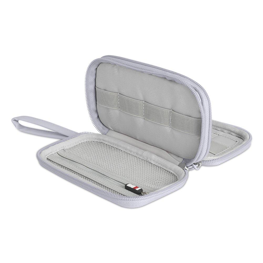 Blue BUBM Digital Storage Bag Electronic Accessories Bag Hard Drive Organizers Earphone Cables USB Flash Drives Travel Case