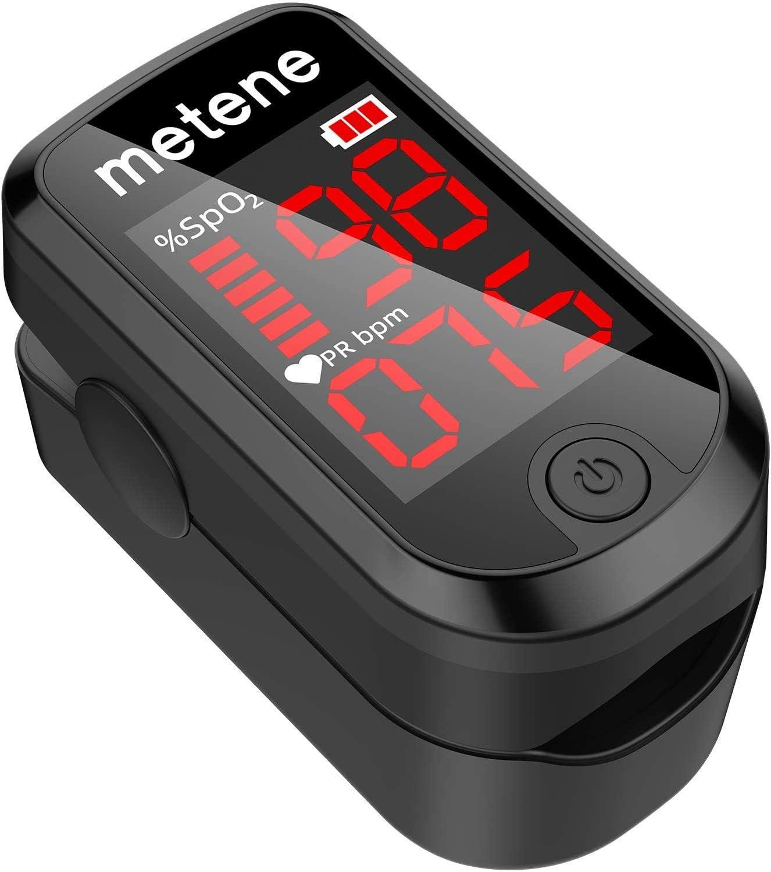 Pulsioxímetro de dedo Metene por sólo 6,49€ con el #código: 8O24OM3I