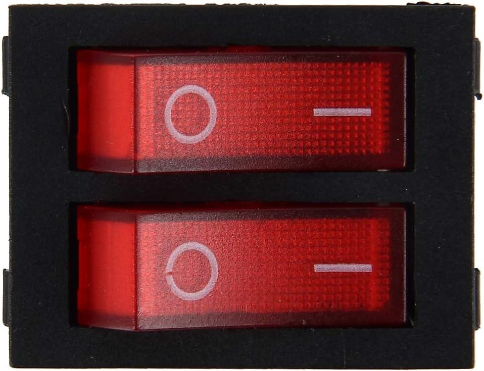 Auto-Ersatzteile Auto Lkw Boot Schalter Toggle Lichtschalter 4pin Wasserdichte 12//24 V Auto Auto Universal DIY 4 Pin Doppelschalter OFF-ON Taster