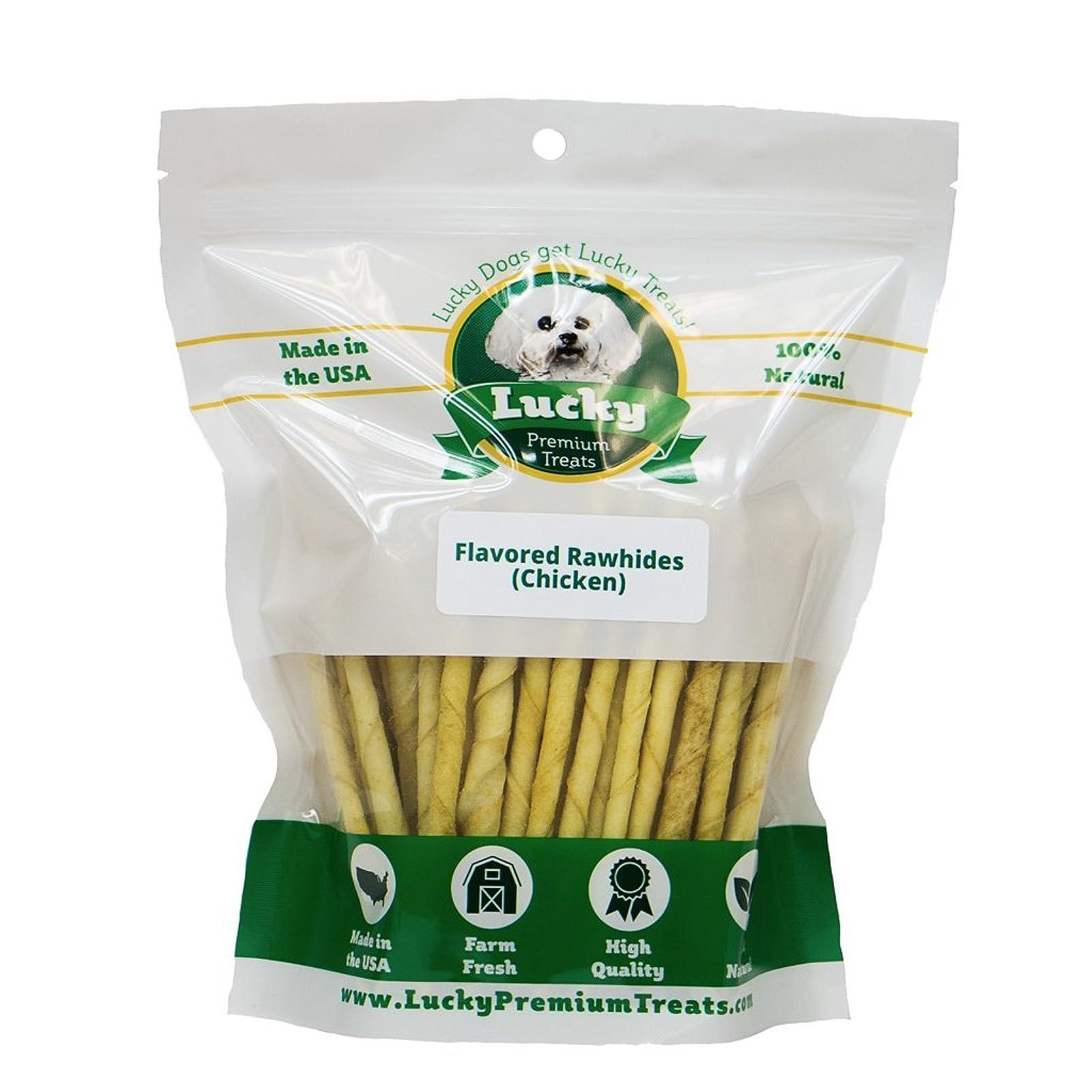 Lucky Premium Treats Chicken Basted Rawhide Dog - 2