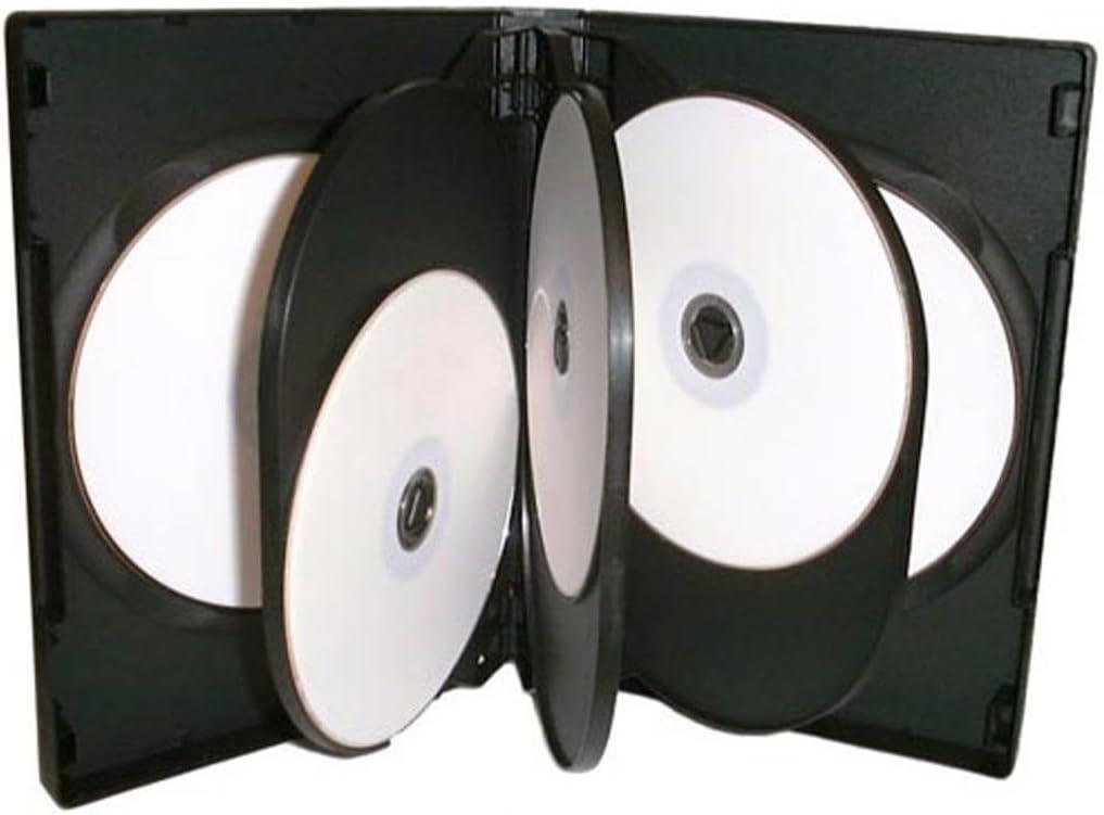 Cajas de almacenamiento para CD, DVD y Blu-ray, capacidad para 8 unidades, 27 mm, color transparente, 5 unidades: Amazon.es: Electrónica
