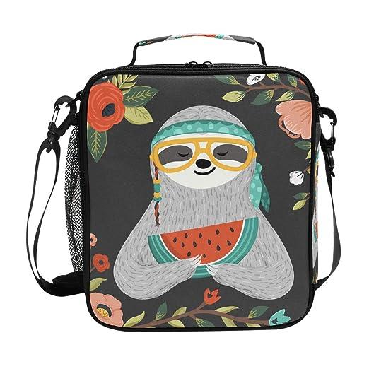 Amazon.com: Bolsa de almuerzo con aislamiento cuadrado y ...