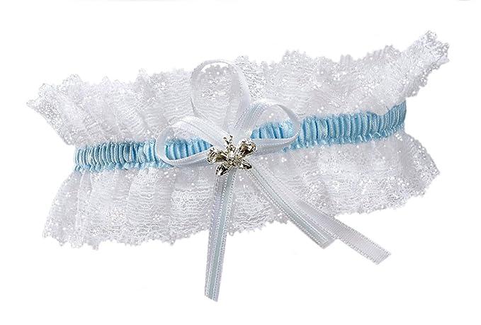 BrautChic XL XXL Liga elástica a la boda - PLUS SIZE - cristales brillantes en forma