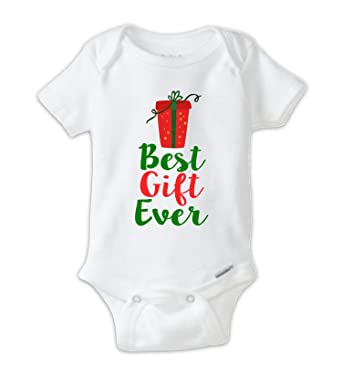 juju apparel best gift ever christmas present baby bodysuit christmas onesie 6t