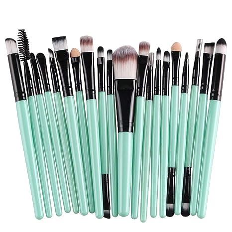 CINDIY 20 pcs Makeup Brush Set tools Make-up Toiletry Kit Wool Make Up Brush Set (Black )