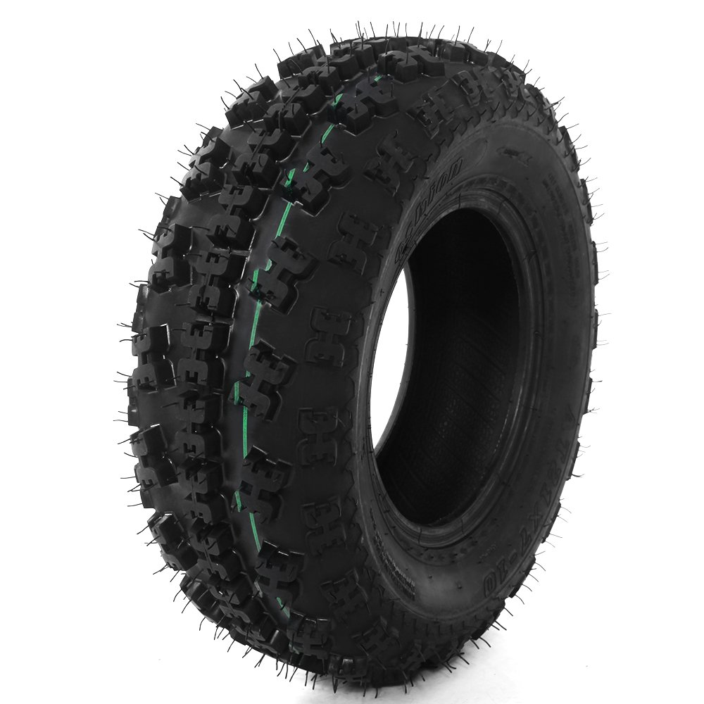 Front Tire Set (2x) 4ply 21X7-10 Sport ATV Tires 21 7 10 21x7x10 Pair by Roadstar (Image #4)