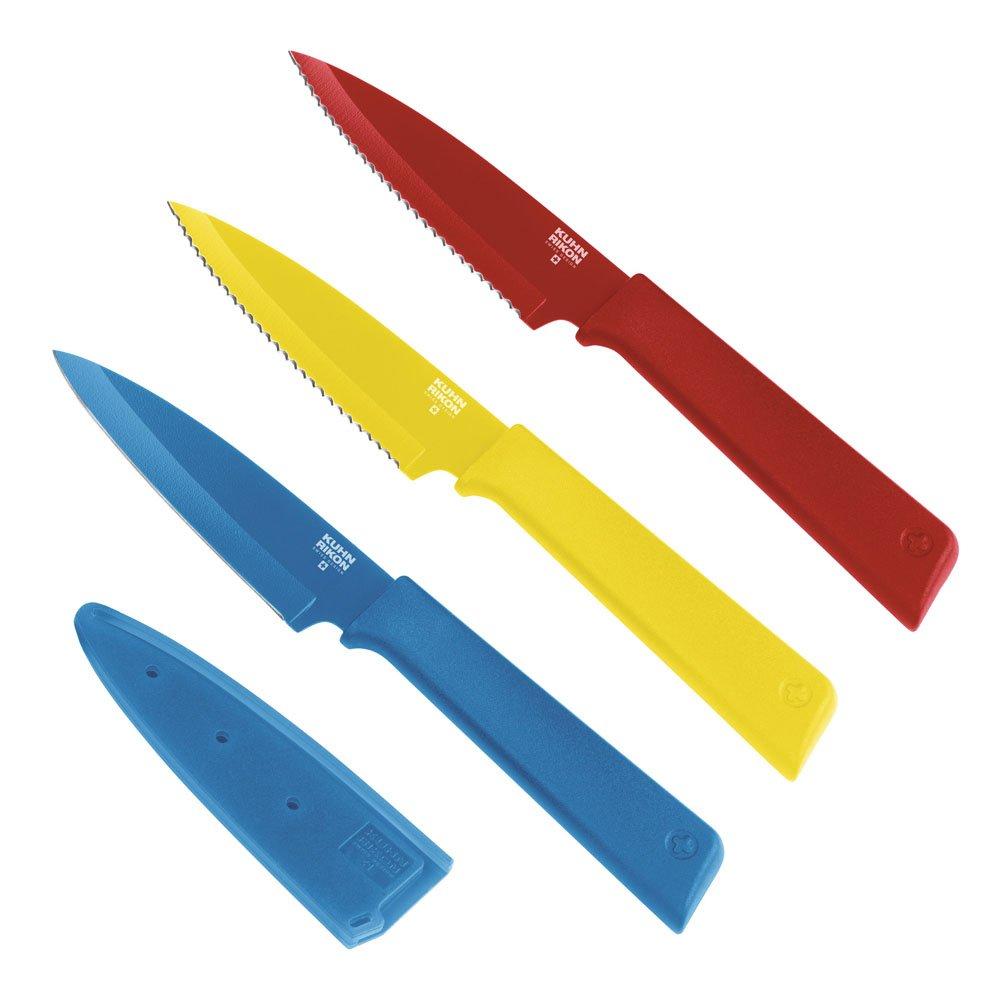 Kuhn Rikon''Colori+'' 3 Piece Prep Knives Set, Multicolor by Kuhn Rikon