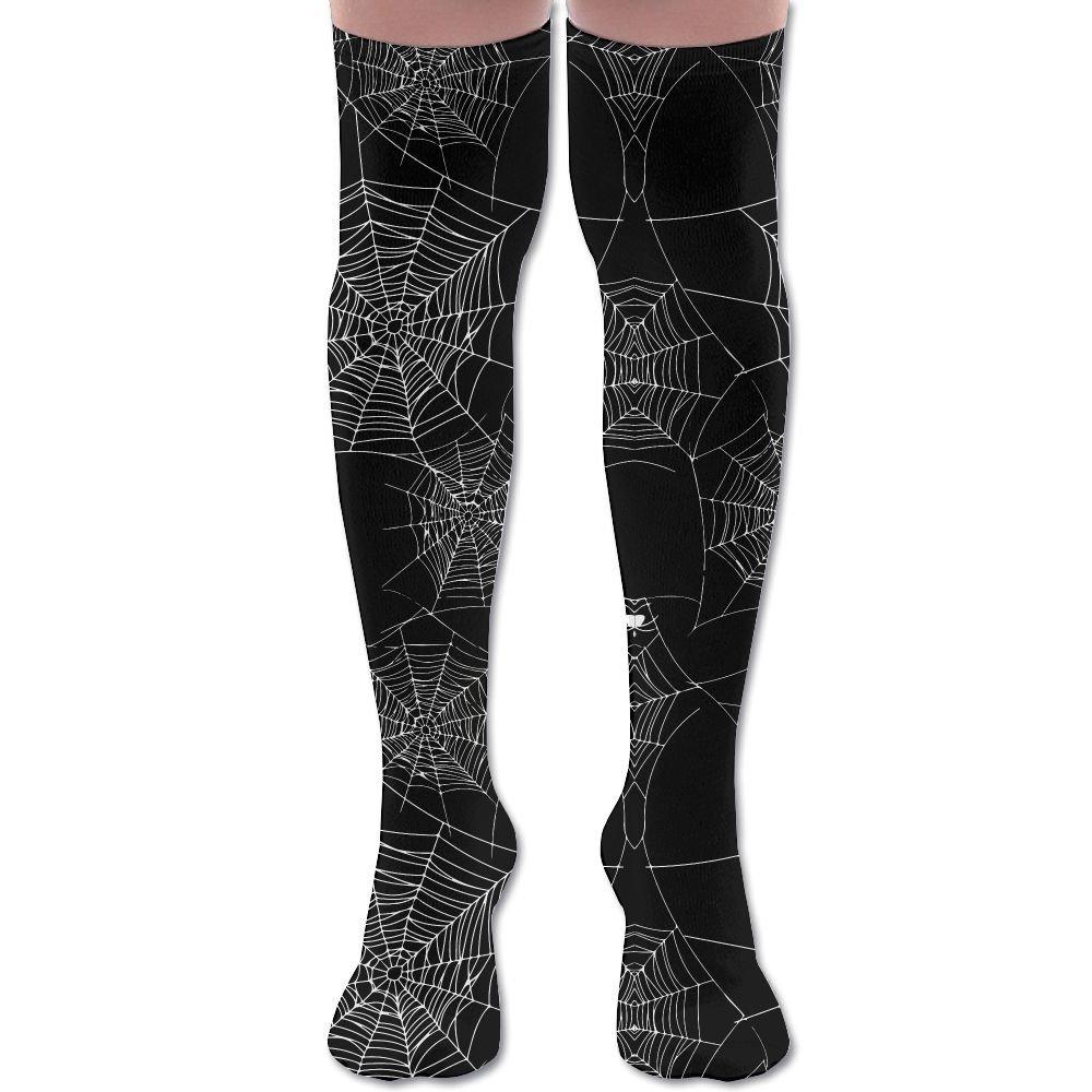 Cool Spooky Spider Webs Unisex Athlete Over Knee High Socks Sport Football Soccer Tube Socks