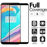 Market Affairs Bubble Free Tempered Glass For Oneplus5T, 0.25 mm Crystal Clear - Black Rim