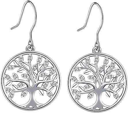 boucle d'oreille arbre de vie femme