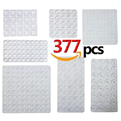 377pcs Cabinet Door Bumpers Sound Dampening Rubber Bumpers Pads