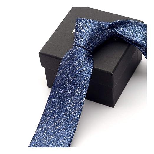 YJWOZ Versión Estrecha de Color sólido Corbata de Negocios ...