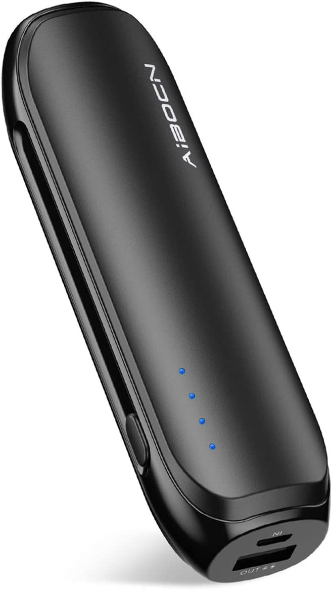 Aibocn Power Bank 6700mAh Lipstick-Sized Portable Charger, Fast Charging External Battery Pack for iPhone Samsung Galaxy and More