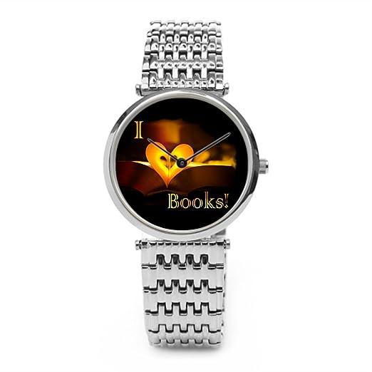 Se La rage Hombres Amor oro mejores relojes de pulsera. Plata: Amazon.es: Relojes