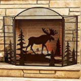 Black Forest Decor Moose Fireplace Screen