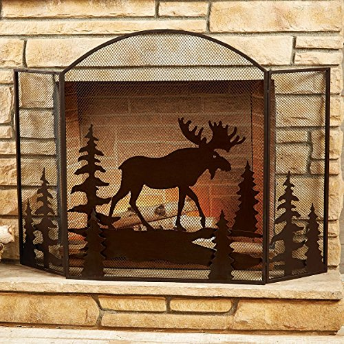 Black Forest Decor Moose Fireplace Screen by Black Forest Decor