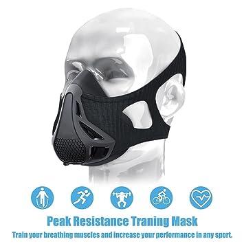 Hypoxic máscara, máscara de entrenamiento running máscara, fácil de usar y interruptor resistencia –