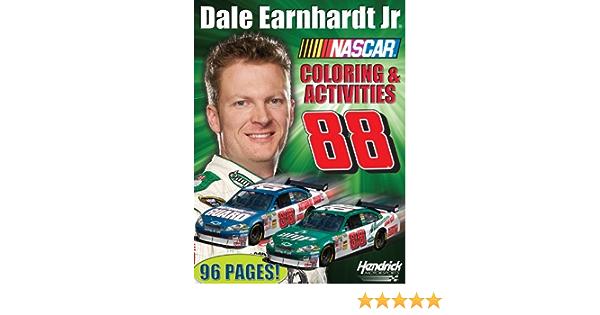 Dale Earnhardt Jr Nascar Drivers Coloring Sticker Book Pc Treasures 9781600721632 Amazon Com Books