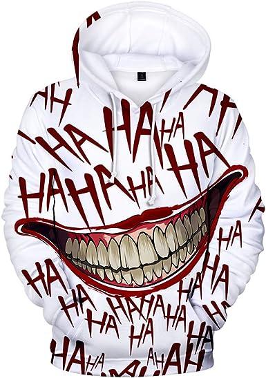 Mibuy Sudaderas Hombre Invierno Ofertas, 3D Joker Imprimió Hoodie ...