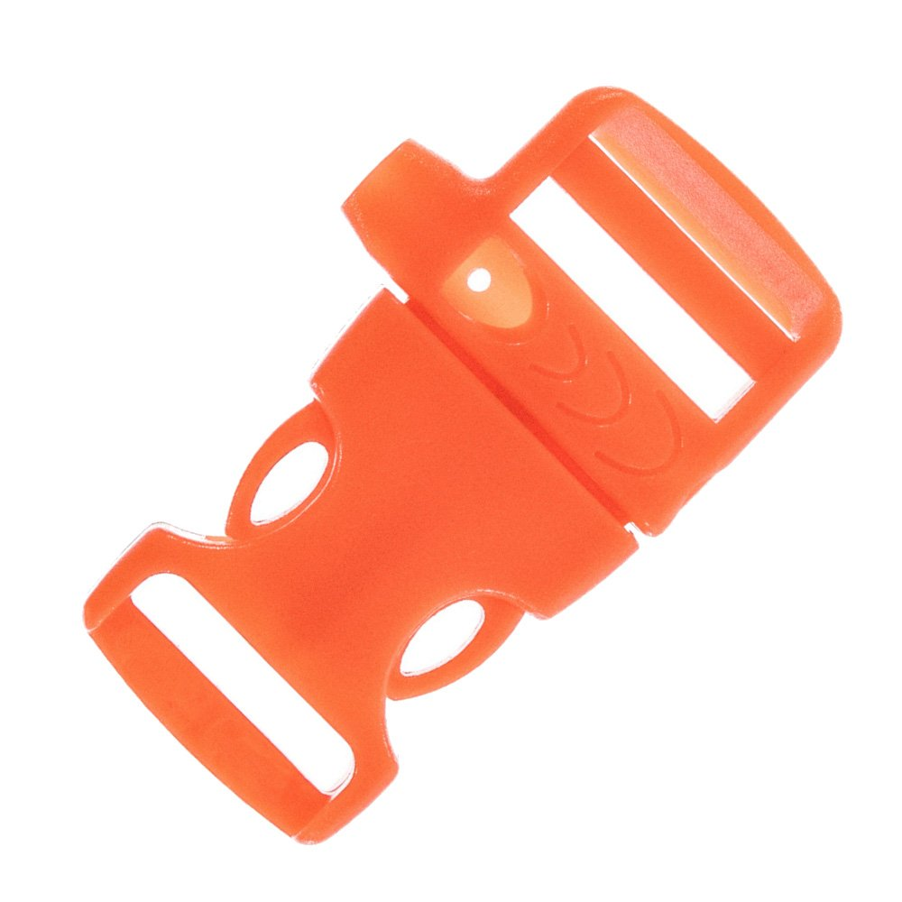 Craft County 3/4 Inch Whistle Emergency Side Release Buckles - Pack Sizes Range from 5-100 - Ideal for Paracord Bracelets, Lanyards