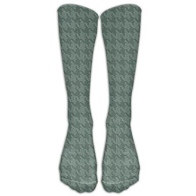 Houndstooth Pattern Novelty Tube Socks For Unisex Running Chic Long