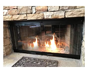 Magnificent 36 Fireplace Glass Door Set To Fit Heatilator Unit Home Interior And Landscaping Ologienasavecom