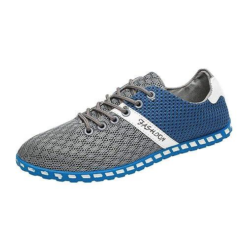 Hombres Zapatillas Zapatos,Casual Cómodas Zapatillas Respirables de Malla Hombre Zapatos Deporte Planos Hombre por Venmo: Amazon.es: Zapatos y complementos