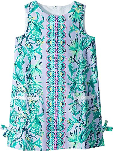 Lilly Pulitzer Kids Baby Girl's Little Lilly Classic Shift Dress (Toddler/Little Kids/Big Kids) Light Lilac Its Impawsible Eng Kids 7 -