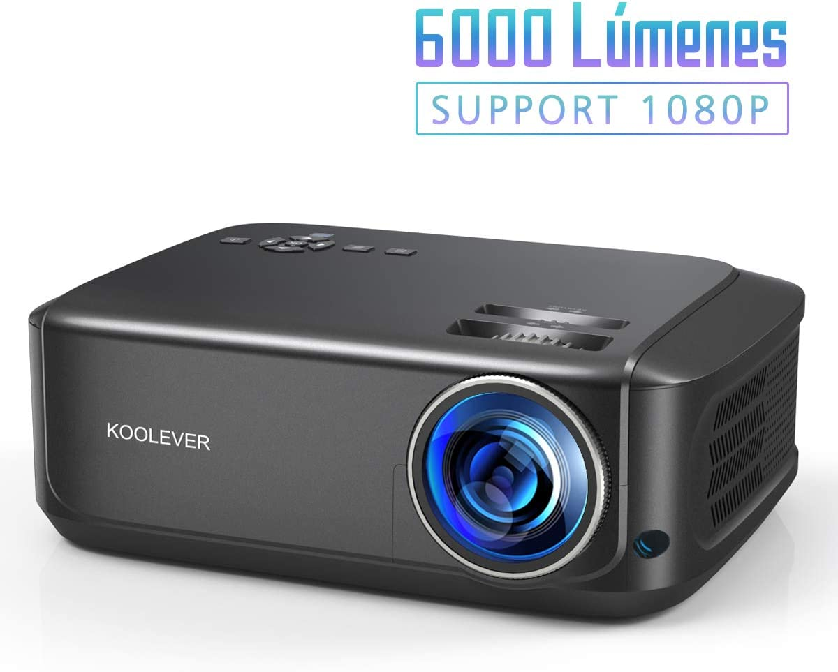 Proyector Full HD, 5000 Lúmenes Soporta 1080P LCD Video Proyector ...