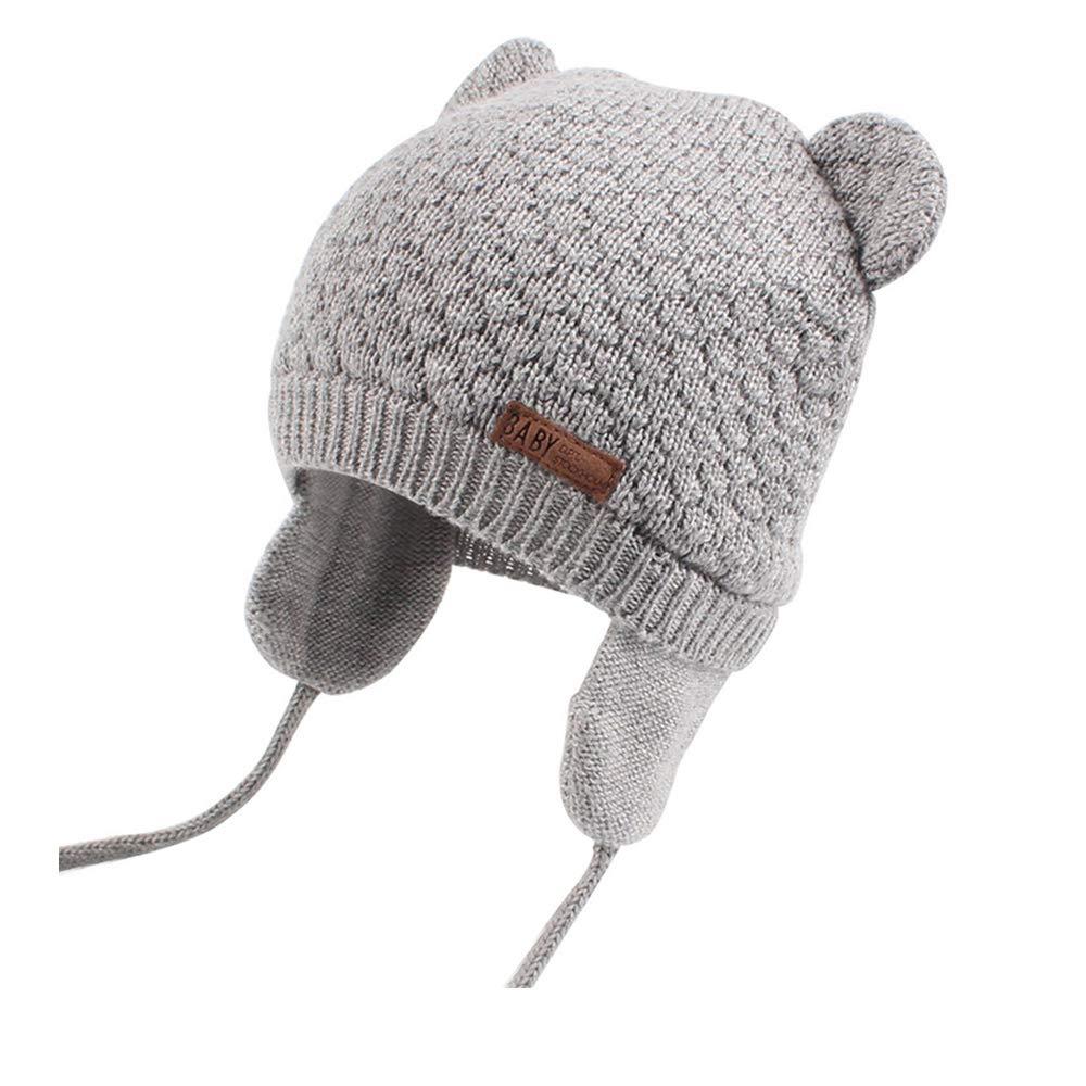 fd7920ab XIAOHAWANG Baby Hat Cute Bear Toddler Earflap Beanie Warm for Fall Winter