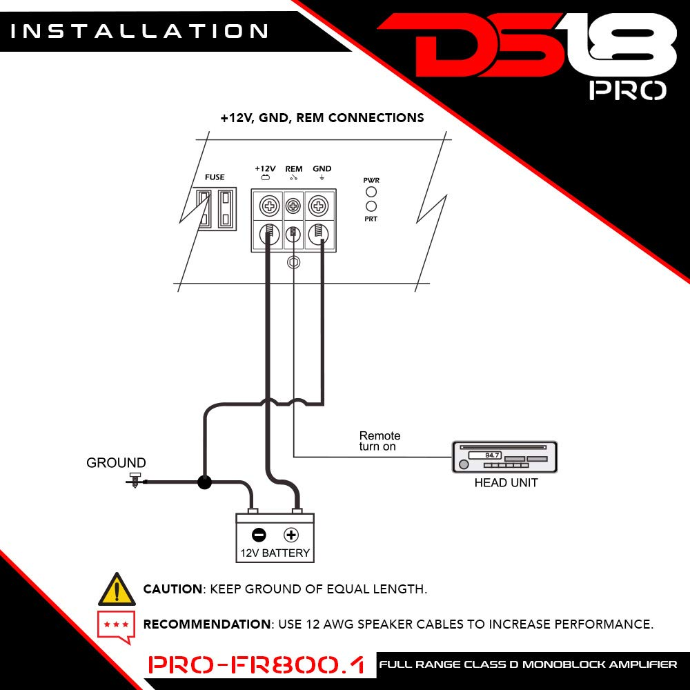 Ds18 Pro Fr8001 800 Watts Rms Full Range Class D Wiring Diagram For Robert Monoblock Amplifier Cell Phones Accessories