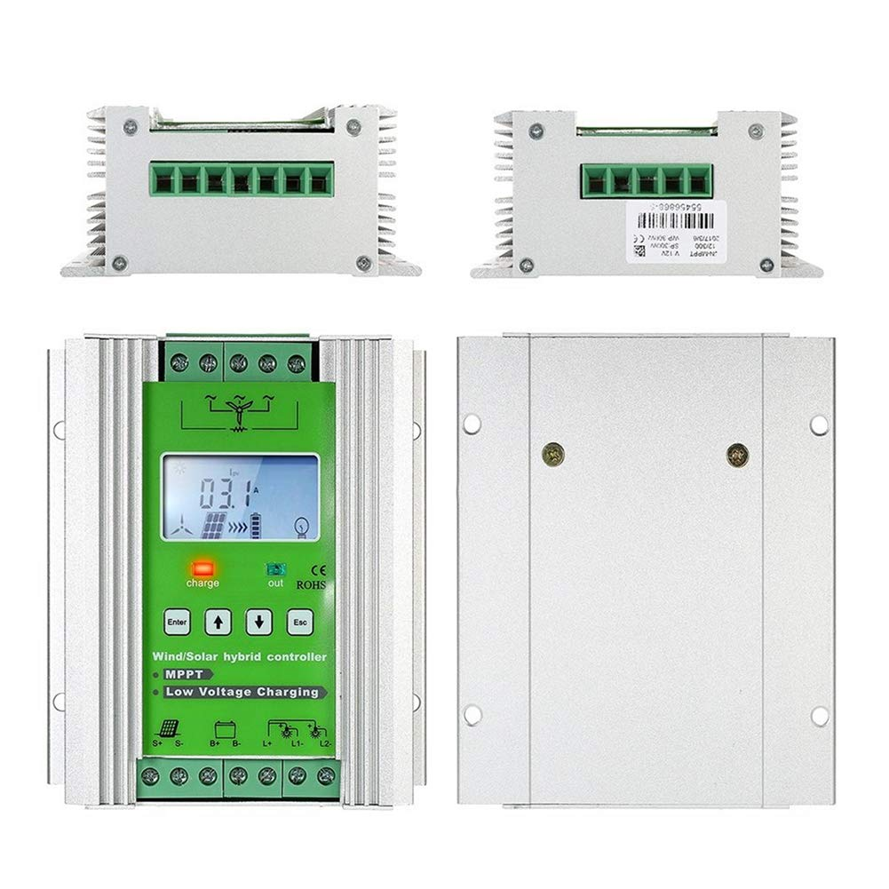 1000W Wind Solar Hybrid Charge Controller ,Off Grid MPPT Wind Turbine Solar Charge Controller Hybrid Controller 600W Wind and 400W Solar Panel 12V/24V Auto Distinguish by anancooler (Image #5)