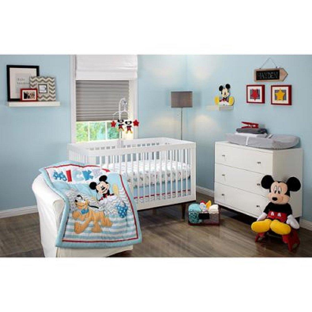 Amazon com   Disney Let s Go Mickey Mouse Adorable 3 Piece Crib Bedding Set    Baby. Amazon com   Disney Let s Go Mickey Mouse Adorable 3 Piece Crib