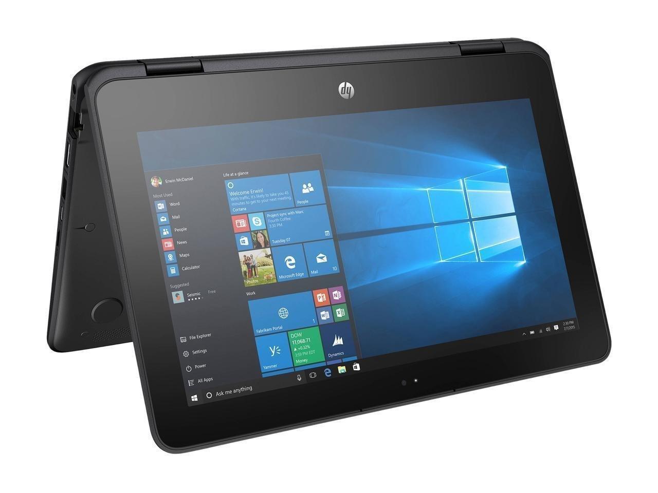 2018 Newest HP X360 ProBook Business 2-in-1 11.6' Touchscreen Laptop PC, Intel Celeron N3350 Dual-Core Processor, 4GB RAM, 64GB SSD, HDMI, Bluetooth, Webcam, WiFi, Windows 10 Pro