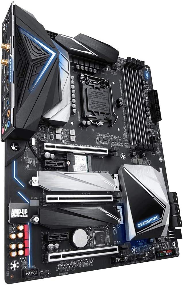 جيجابايت GIGABYTE Z390 DESIGNARE ( انتل LGA1151/Z390/ATX/2xM.2/Thunderbolt 3/Onboard AC Wifi/12+1 مرحلة رقمية Vrm/Motherboard )