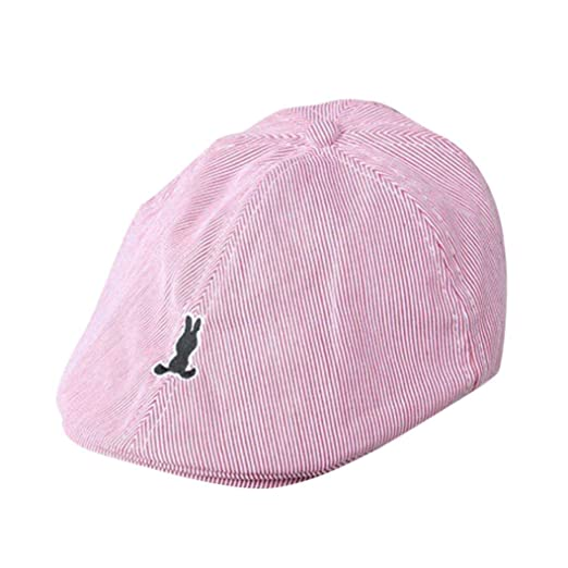 Amazon.com  Molyveva Kids Baby Cotton Newsboy Casquette Baseball Hat Stripe  Beret Cap  Clothing 9e7b42f51669