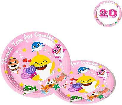 Amazon.com: Platos de tiburón para bebés, 20 unidades ...