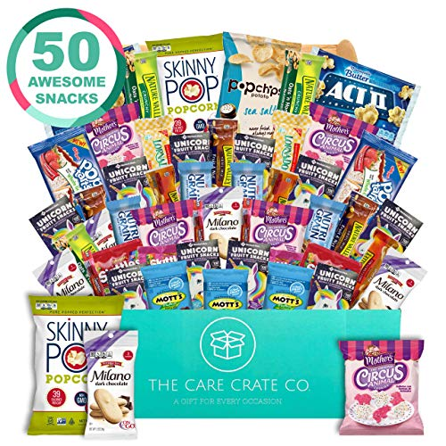 The Care Crate Lady Box Ultimate Lady Snack Box Care Package ( 50 piece Snack Pack ) Chips Variety Pack, Cookies, Gummies, Popcorn]()